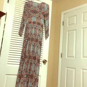 Size XS H & M multi color maxi dress